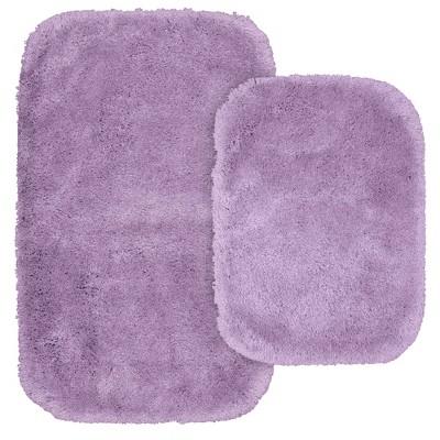 2pc Finest Luxury Ultra Plush Washable Nylon Bath Rug Set - Garland