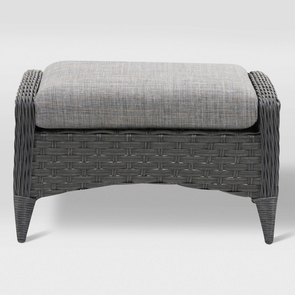 Parkview Footstool - Gray - CorLiving