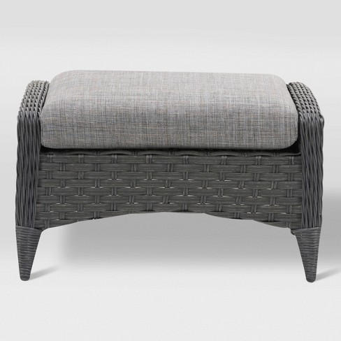 Parkview Footstool - Charcoal - CorLiving - image 1 of 5
