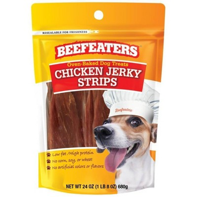 Beefeaters Oven Baked Chicken Jerky Strips Dog Treats - 24oz