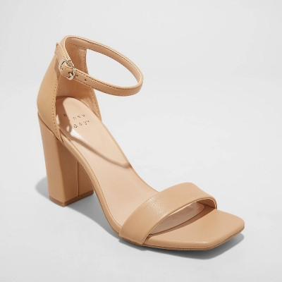 Women's Ema High Block Square Toe Sandals - A New Day™