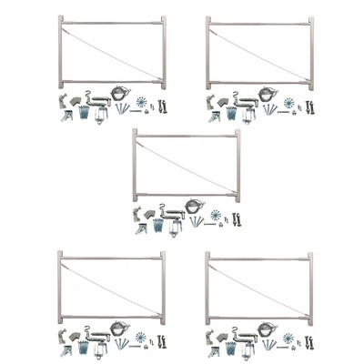 "Adjust-A-Gate Steel Frame Gate Building Kit, 36""-72"" Wide Up To 6' High (5 Pack)"