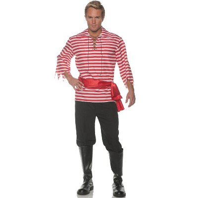 Underwraps Costumes Striped Pirate Adult Costume (Red)