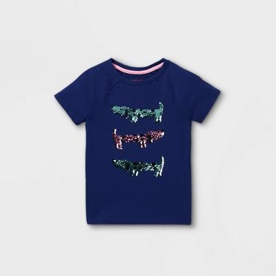 Girls' Flip Sequin Dogs Short Sleeve T-Shirt - Cat & Jack™ Blue