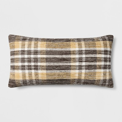 Woven Plaid Oversized Lumbar Throw Pillow Gold - Threshold™