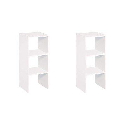 ClosetMaid 895300 Decorative Home Stackable 2-Cube Organizer Storage 31-Inch, White (2 Pack)