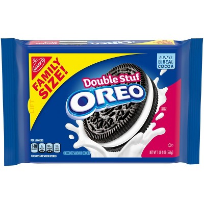Oreo Double Stuf Chocolate Sandwich Cookies Family Size - 20oz