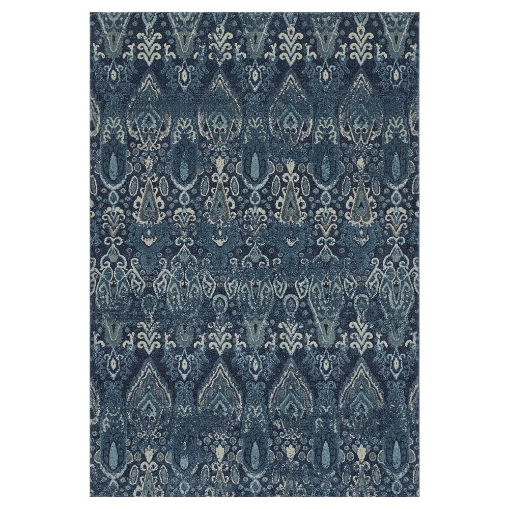 Navy (Blue) Abstract Woven Area Rug - (9'6X13')