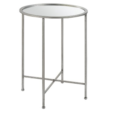 Delicieux Gold Coast Julia Mirrored End Table   Silver   Johar Furniture : Target