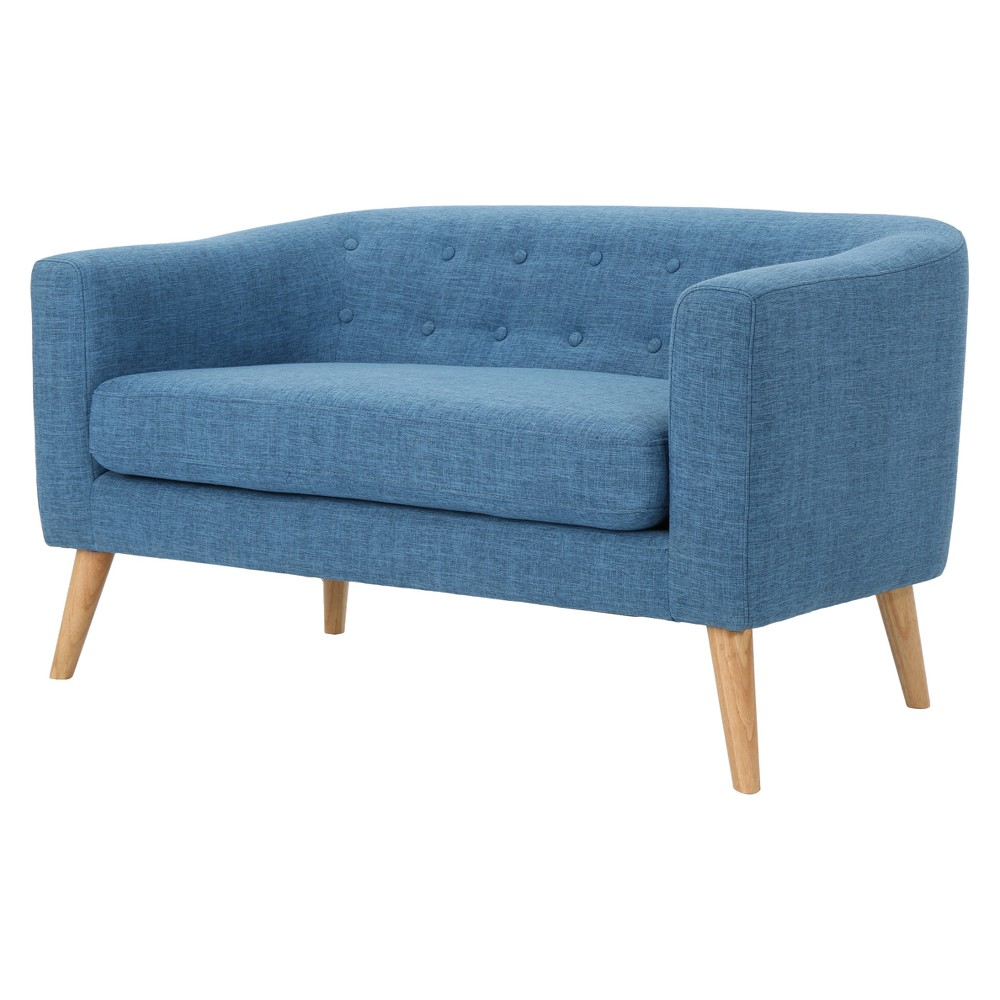 Bridie Mid-Century Loveseat - Muted Blue - Christopher Knight Home