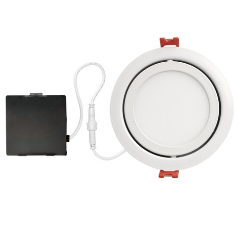 """Globe Electric 91071 Slimline 4"""" LED Open Recessed Trim and Remodel Housing - Insulated Ceiling Rated - image 1 of 1"""