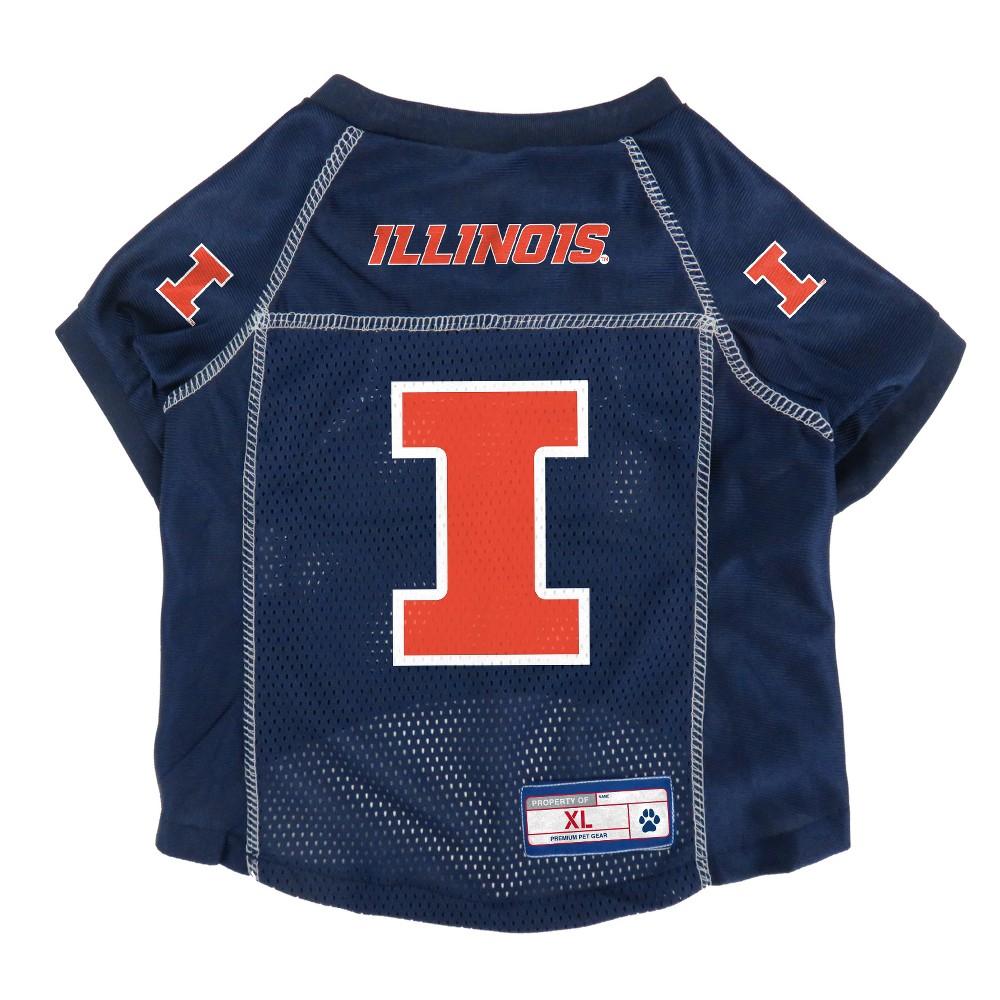 Illinois Fighting Illini Little Earth Pet Football Jersey - M, Multicolored
