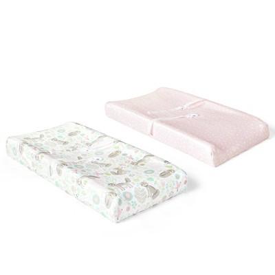 Lush Décor Pixie Fox Geo Micro Mink Changing Pad Cover - 2pk