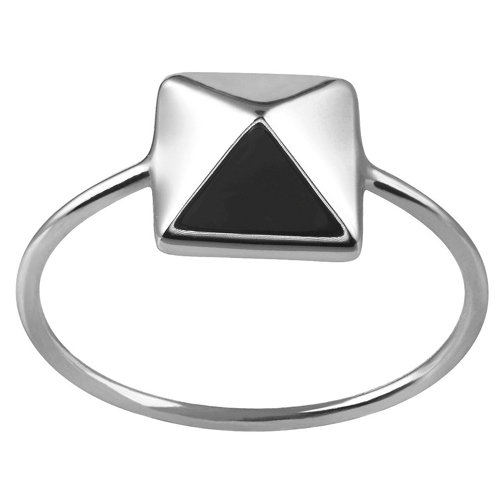 Women's Journee Collection Pyramid Ring in Sterling Silver - Silver (6)