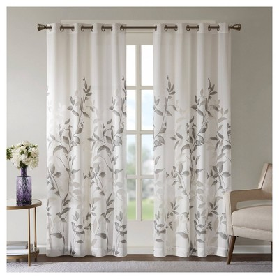 "84""x50"" Rosalie Burnout Printed Light Filtering Curtain Panel"