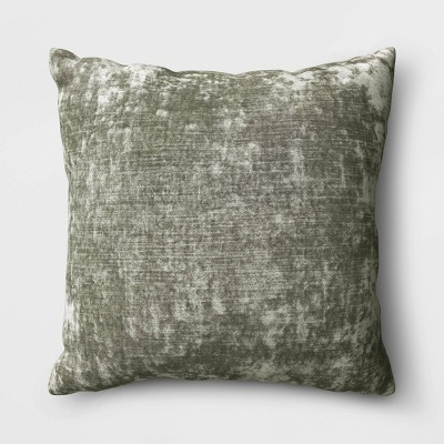 Velvet Square Throw Pillow Sage - Threshold™