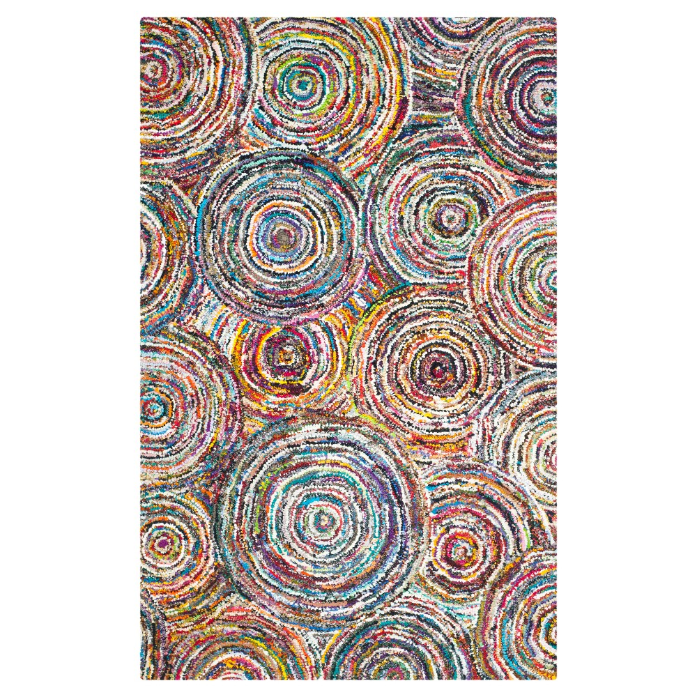 Multi-Colored Abstract Tufted Area Rug - (4'X6') - Safavieh, Multicolored