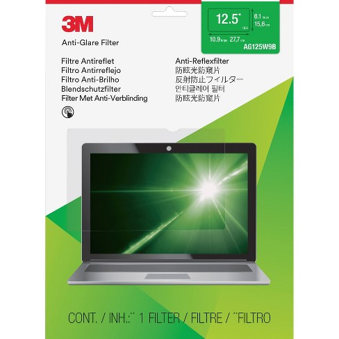 """3M Anti-glare Filter f/12.5"""" Wide-screen Laptops 16:9 Clear AG125W9B - image 1 of 1"""