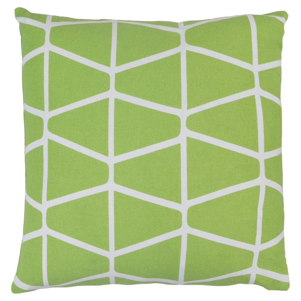 Lime (Green) Priston Geometric Throw Pillow 20