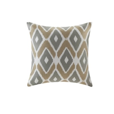 Soft Taupe Ender Diamond Printed Throw Pillow (20 x20 )