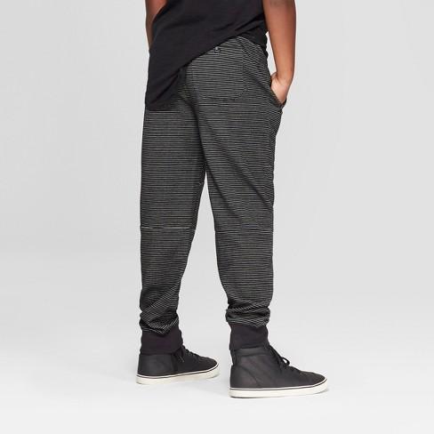 03802967b855 Boys  Stripe Knit Jogger Pants - Art Class™ Black White   Target