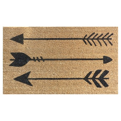 Doormat Arrows Coir Black 18 x30  - Threshold™