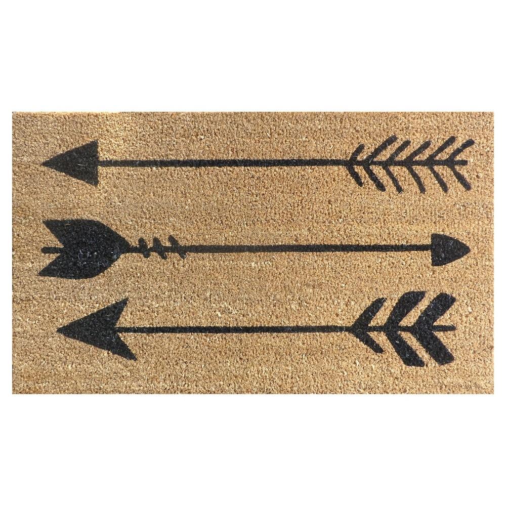 Doormat Arrows Coir Black