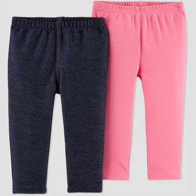 Baby Girls' 2pk Jeggings - Just One You® made by carter's Pink/Gray Newborn