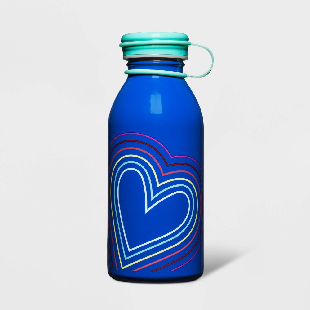 Image of 12oz Stainless Steel Hearts Water Bottle - Cat & Jack