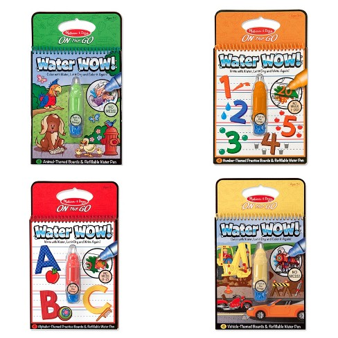 Melissa Doug Water Wow Coloring Book Assorted Target