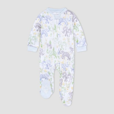 Burt's Bees Baby® Baby Boys' Elephant Sleep N' Play - Green/Blue