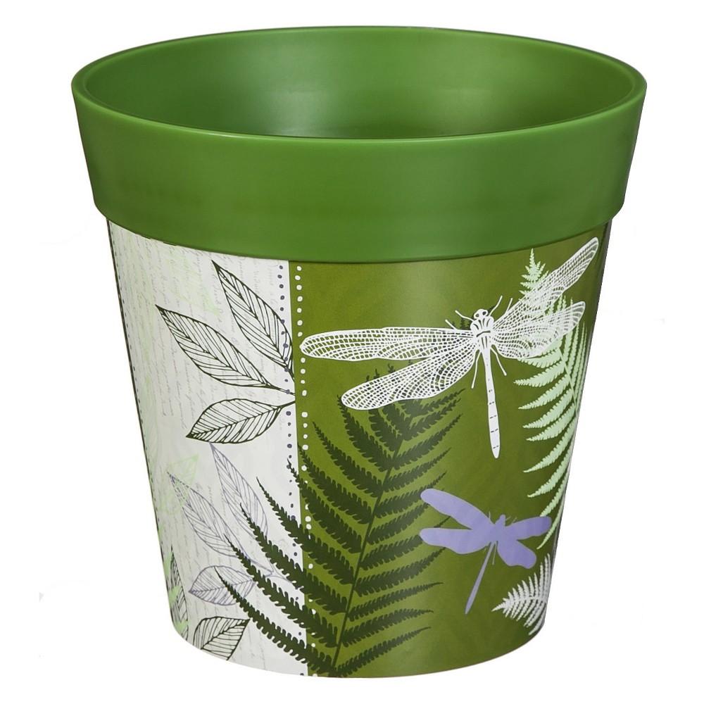 8.50H Polypropylene Planter - Green - Evergreen