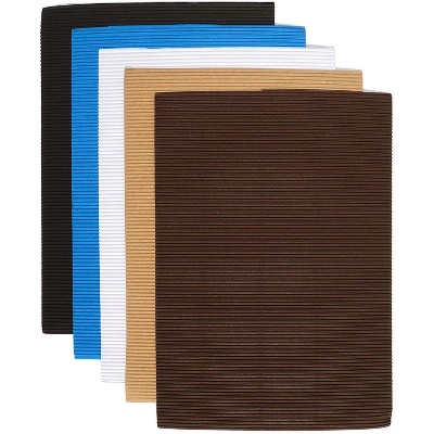 Bright Creations 30-Pack Corrugated Sheets Paper for DIY Arts and Crafts, Neutral Colors (8.3 x 11.7 In)