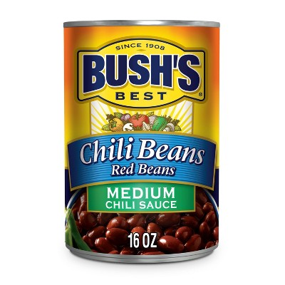 Bush's Red Beans in Medium Chili Sauce - 16oz
