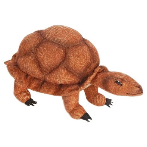 "Hansa Handcrafted 9"" Plush Wood Turtle - image 1 of 1"