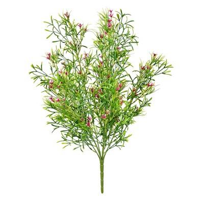 "Vickerman 20"" Artificial UV Coated Pink Woodruff Bush."