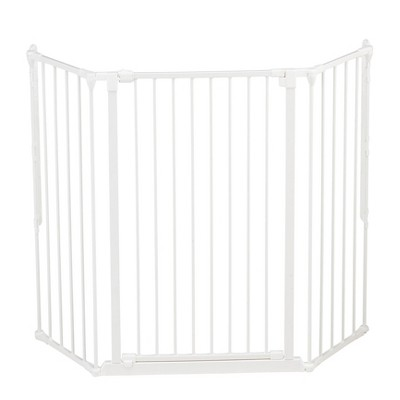 Scandinavian Pet Design 50514-2400 Flex Large and Extra Tall Adjustable 35 to 88 Inch Wide 41 Inch Tall Wall Mounted Metal Pet Safety Gate, White