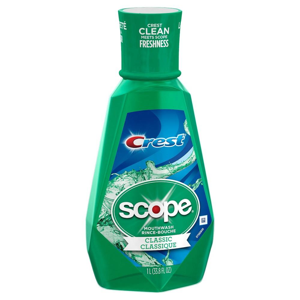 Image of Crest Scope Classic Mouthwash Original Formula For Fresh Breath - 33.8 fl oz