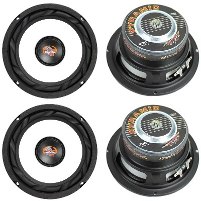 """PYRAMID WX65X 6.5"""" 1200W Car Audio Subwoofers Subs Power Woofers 4 Ohm"""