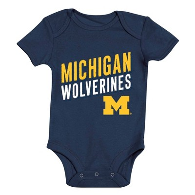 NCAA Michigan Wolverines Baby Boys' 3pk Bodysuit Set - 6-9M