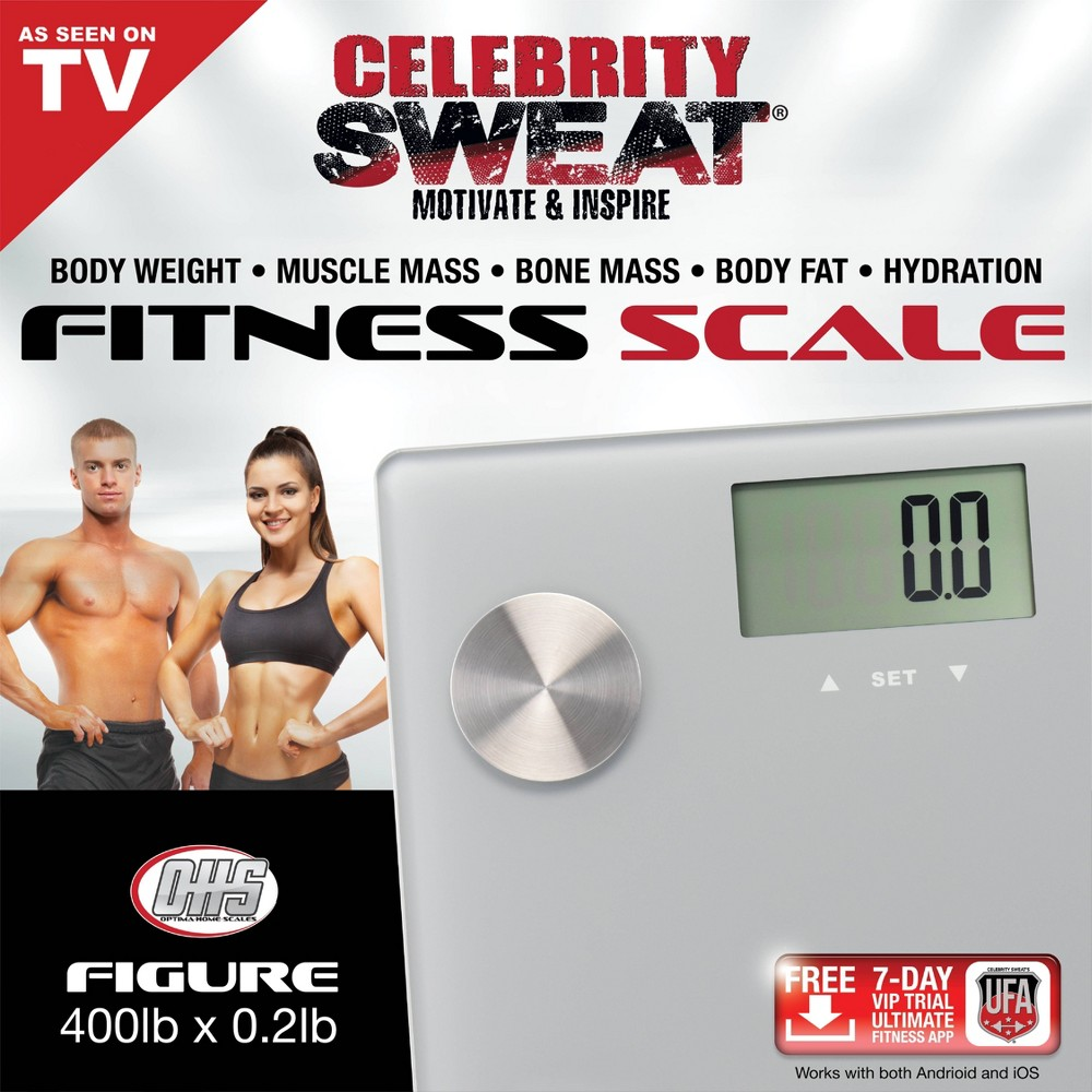 Image of Figure Body Composition Scale Silver - Optima Home Scales