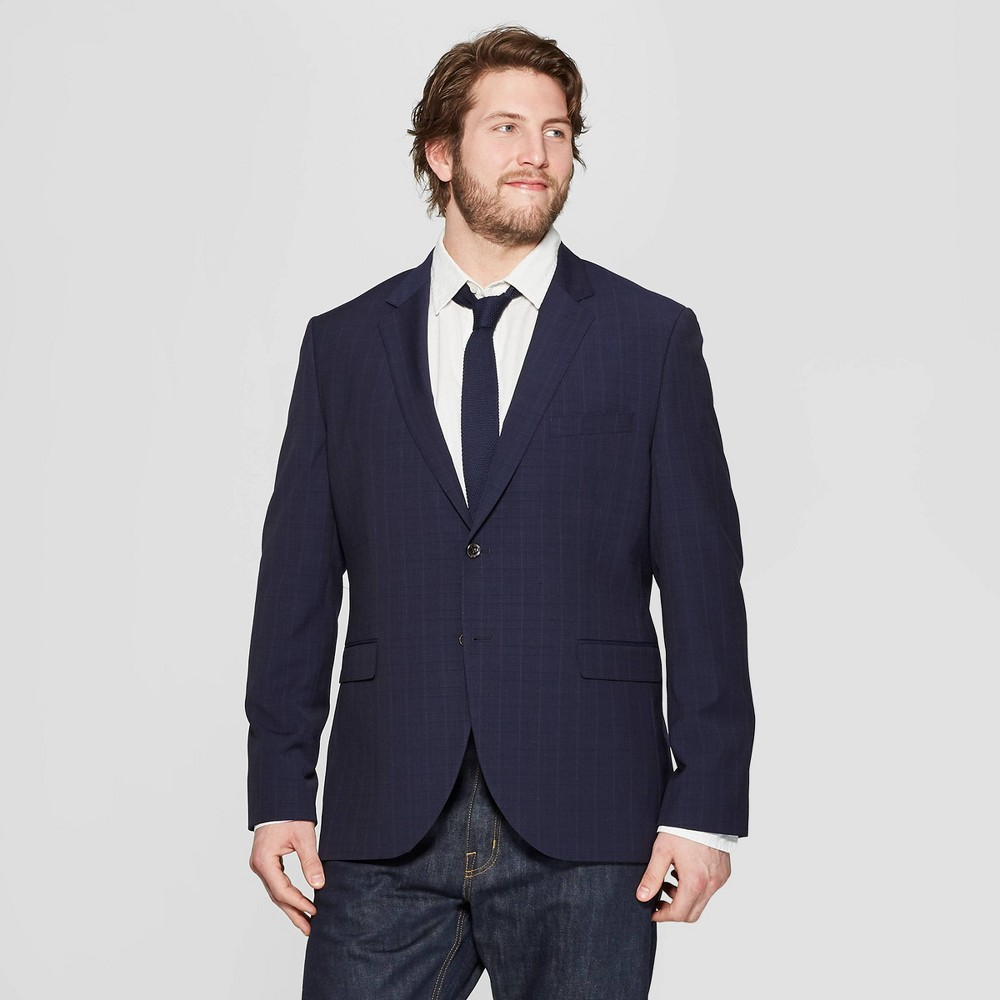 Men's Big & Tall Slim Fit Suit Jacket - Goodfellow & Co Navy Voyage 46L