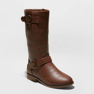 Girls' Hemlock Fashion Boots - Cat & Jack™ Brown 13