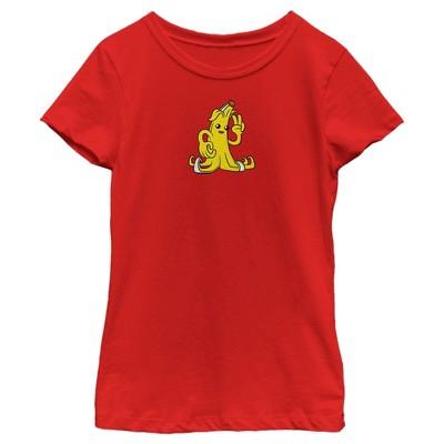 Girl's Fortnite Peely Peace Sign T-Shirt