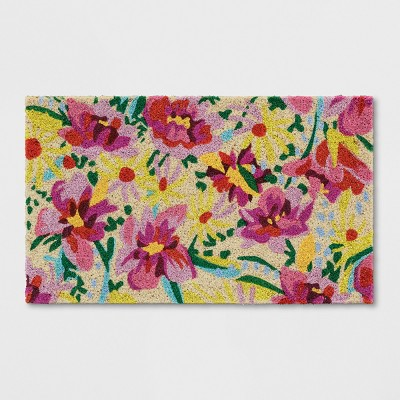 Pink Floral Tufted Doormat 1'6 X2'6  - Opalhouse™