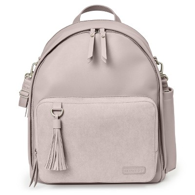 Skip Hop Greenwich Simply Chic Backpack Diaper Bag - Portobello Suede
