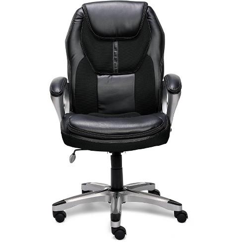 Executive Chair Black Mesh - Serta - image 1 of 4