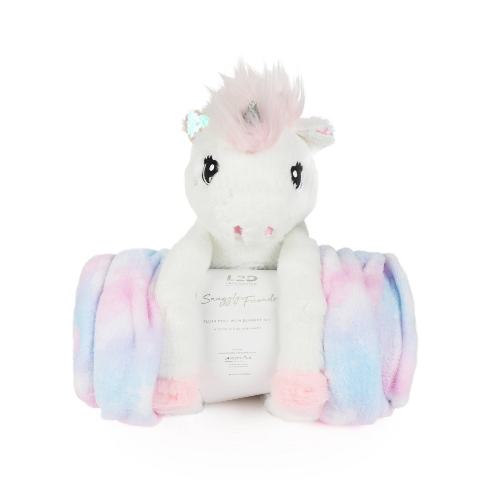 Image of Unicorn Figural Throw and Decorative Pillow