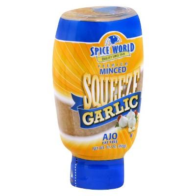 Spice World Premium Minced Squeeze Garlic - 9.5oz