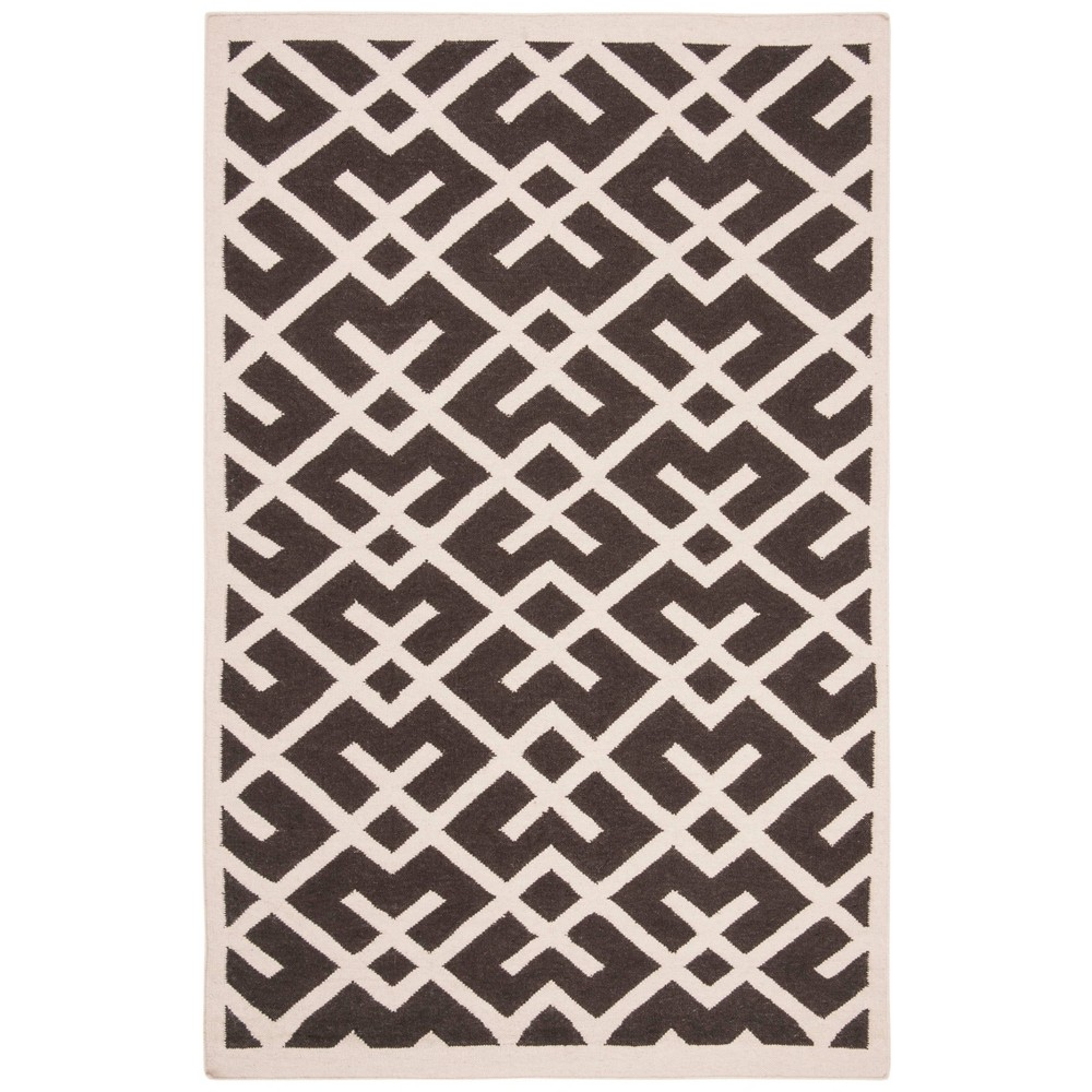 Tangier Dhurry Area Rug - Brown/Ivory (9'x12') - Safavieh